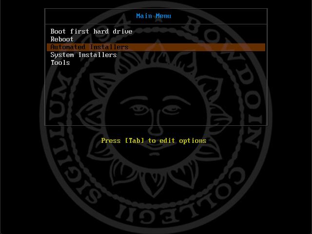 PXEboot bootscreen